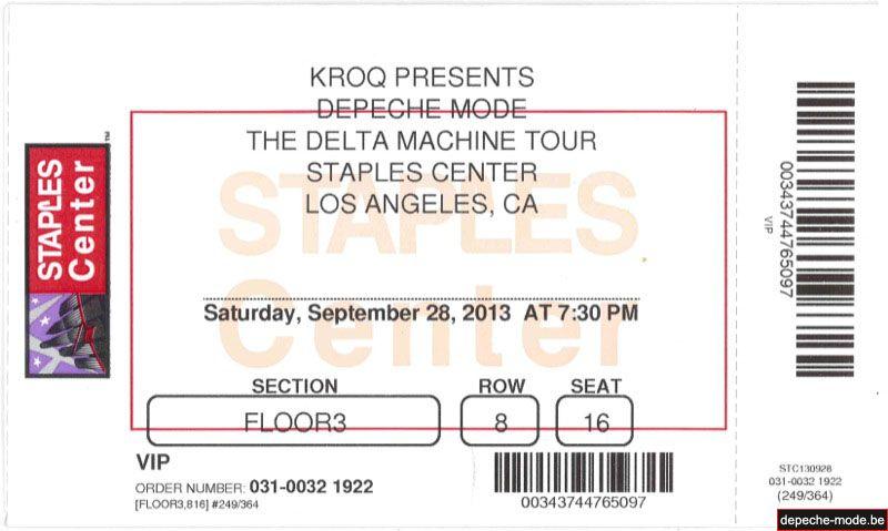 L.A. - 28/09/2013 - Staples Center