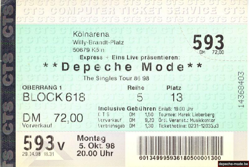 Cologne - 5 octobre 1998