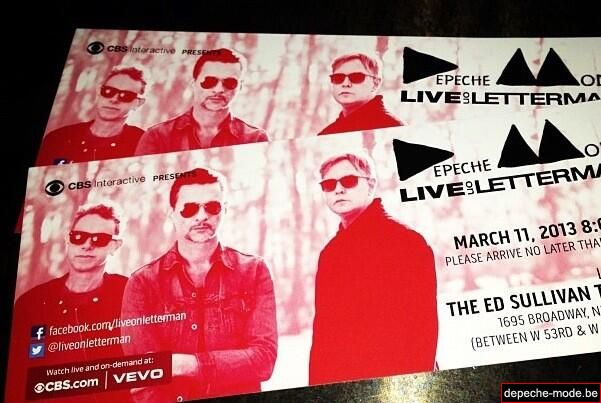Ticket - Live On Letterman