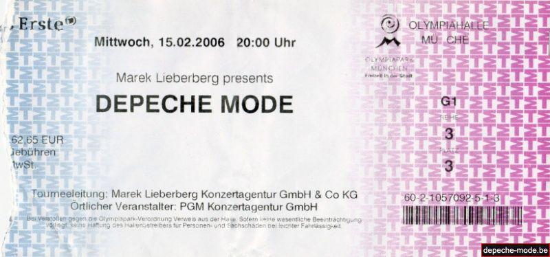 Ticket Munich - 2006 02 15