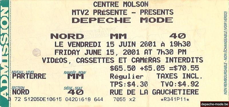 15 juin 2001 - Montreal
