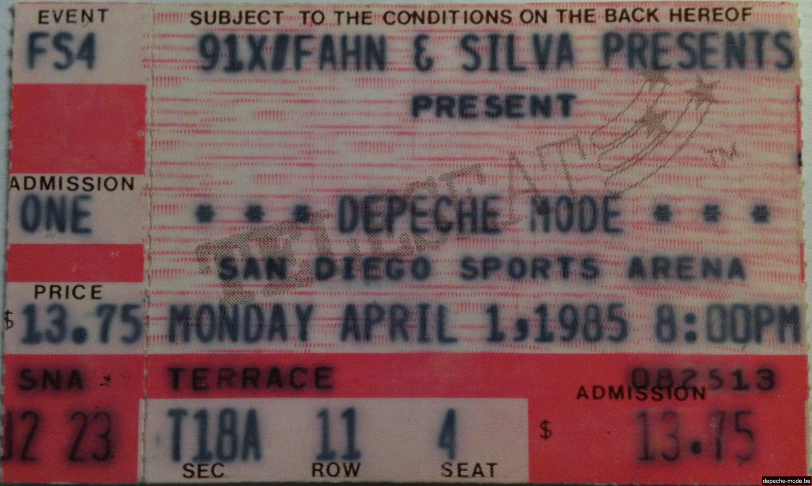San Diego - 01/04/1985