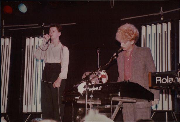Dave et Martin sur scène